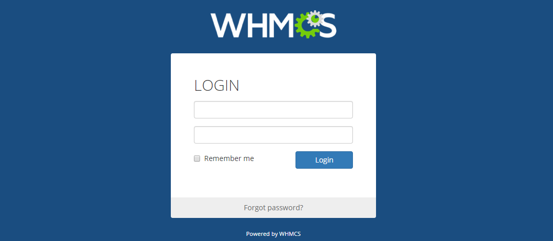 reset WHMCS password