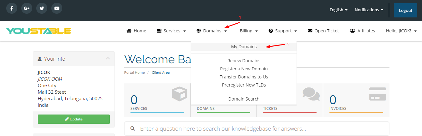 How to connect a domain name to Tictail?