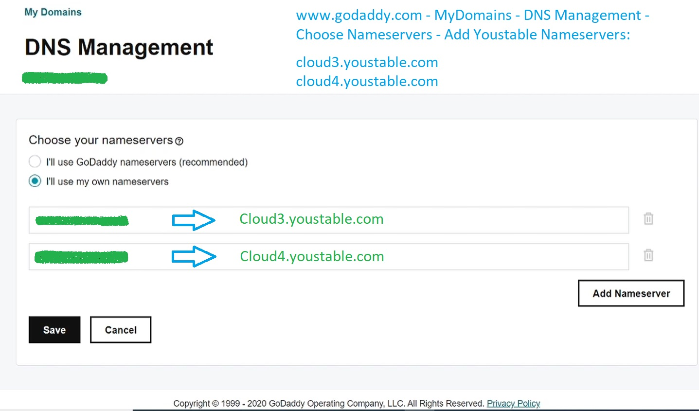 How to Transfer Hosting From GoDaddy to Youstable 6